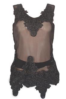 G Collection Black Sleeveless Ladies Netty Top