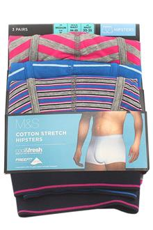 Marks & Spencer Multicolor Cotton 3 Pairs Men Trunks