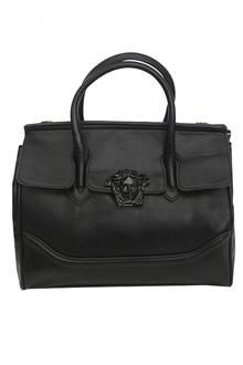 Versace Black Leather Medium Handbag