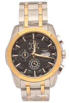Tissot T Sport Silver Gold Men Chronograph Watch