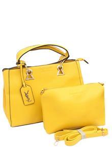 YSL Yellow Leather Medium Tote Handbag Wt Purse