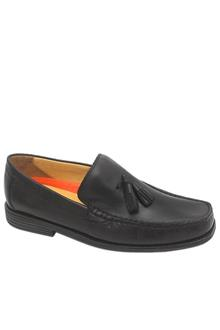 M & S Air Flex Black Leather Men Shoe