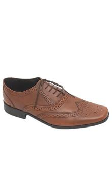 M & S Collection Brown Lace-Up Leather Men Shoe
