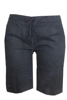 Petite Black Cotton Ladies Short