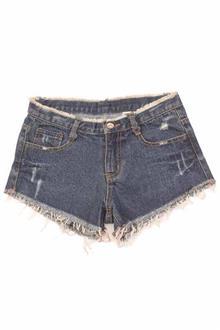Zune Blue Cotton Ladies Denim Bum Short