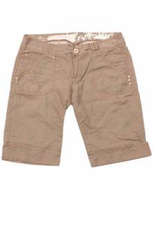 Brown Linen Ladies Short