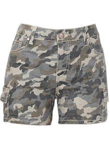 St Blue Army Cammo Girls Bum Short