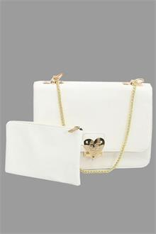 Valentino White Leather Ladies Crossover  Bag