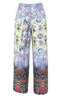 One World Multicolor Ladies Lycra Palazzo Pant