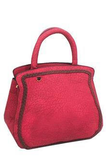 Pink Leather Small Handbag