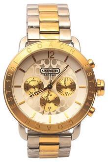 Coach Silver Gold Men Chronograph Watch
