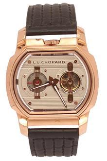 L.U. Chopard Engine One H Black Leather Men Automatic Watch
