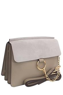 Chloe Khaki Suede-Leather Crossover Bag