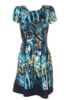 R & K Multicolor S/Sleeve Ladies Dress