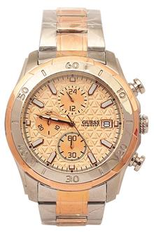 Guess W0746G1 Silver Rose Gold Men Chronograph Watch