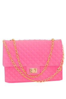 Pink Rubber Small Sling Bag