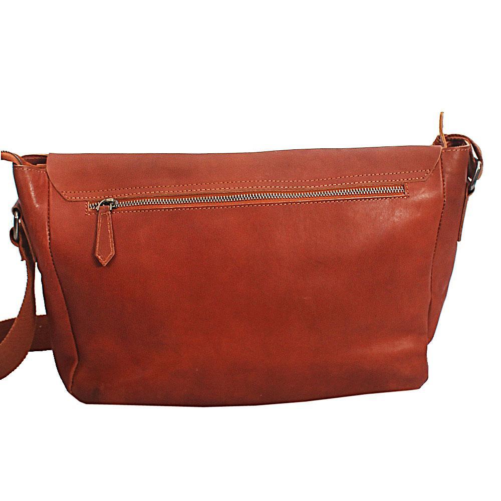 c852b9a8de Buy Light-Brown-Bremen-Classic-Double-Pocket-Leather-Messenger-Bag ...