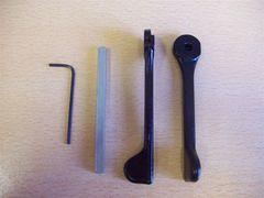 Aluminium Patio Levers 4mm spindle