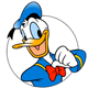 Donald Duck colouring pages