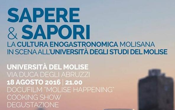 """""""Sapere e Sapori"""", degustazioni e cooking show all?Unimol"""
