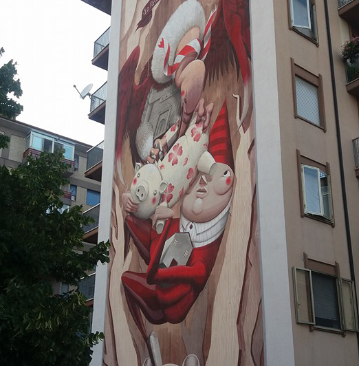 """""""La favola dell'avvoltoio"""", la street art continua a colorare Campobasso"""