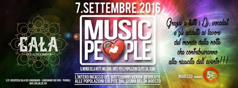 """EVENTI – La Cala dei Longobardi si stringe ai terremotati con il """"Music People"""""""
