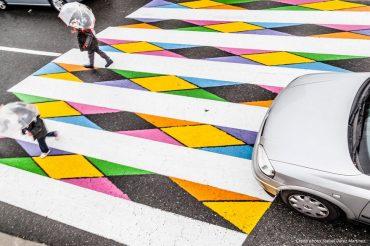 Le strisce pedonali di Madrid trasformate in opere d'arte (LE FOTO)