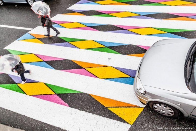 Le strisce pedonali di Madrid trasformate in opere d?arte (LE FOTO)