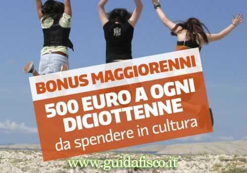 """INIZIATIVE – 18app, arriva il bonus """"culturale"""" da 500 euro"""