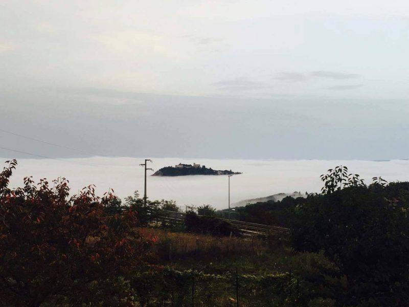 """""""Isola Monforte"""" a Campobasso, la collina immersa nella nebbia"""