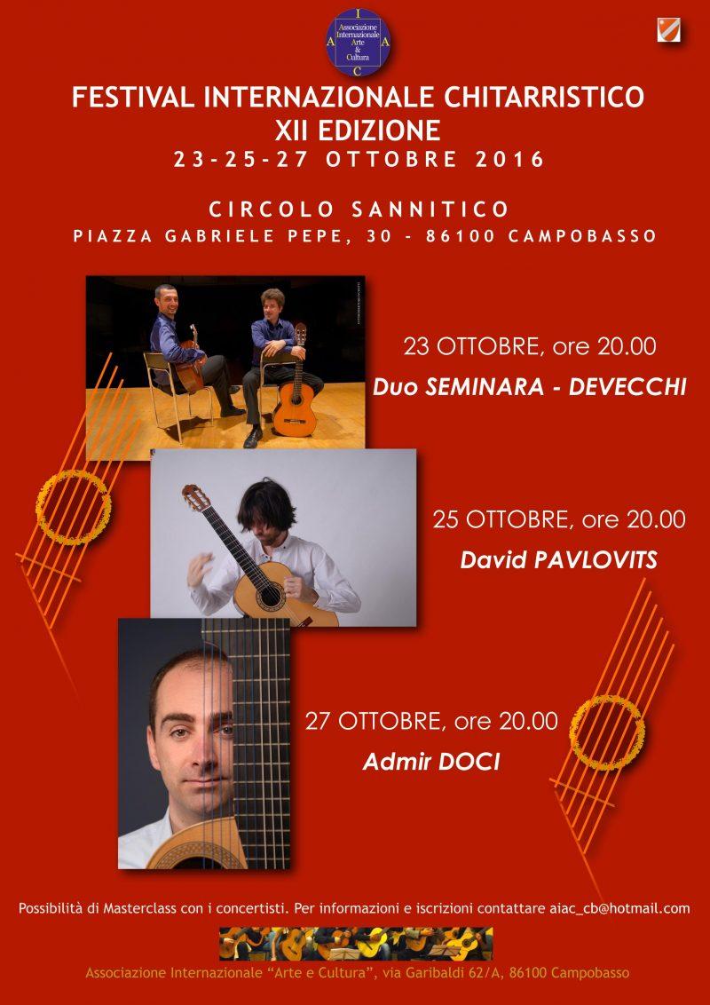 A Campobasso la XII edizione del Festival Internazionale Chitarristico