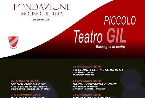 """Autori e attori molisani protagonisti al Piccolo Teatro Gil: il 27 ottobre """"Monologouache"""""""