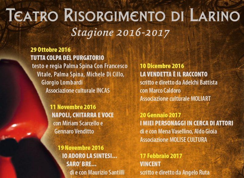 Con Palma Spina si apre sabato a Larino la nuova stagione del Teatro Risorgimento