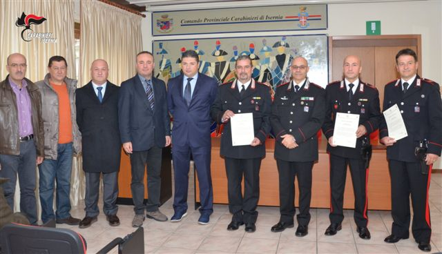 Sgominarono banda di malviventi specializzata in furti di rame, premiati i Carabinieri