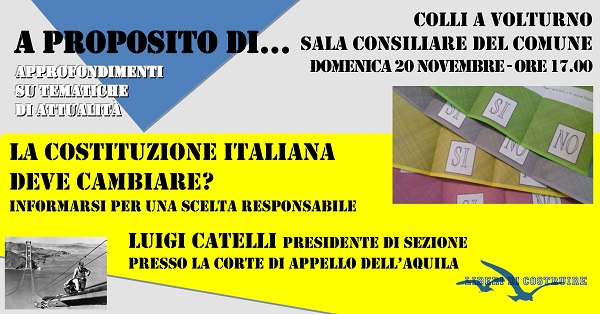 Referendum costituzionale, dibattito a Colli a Volturno