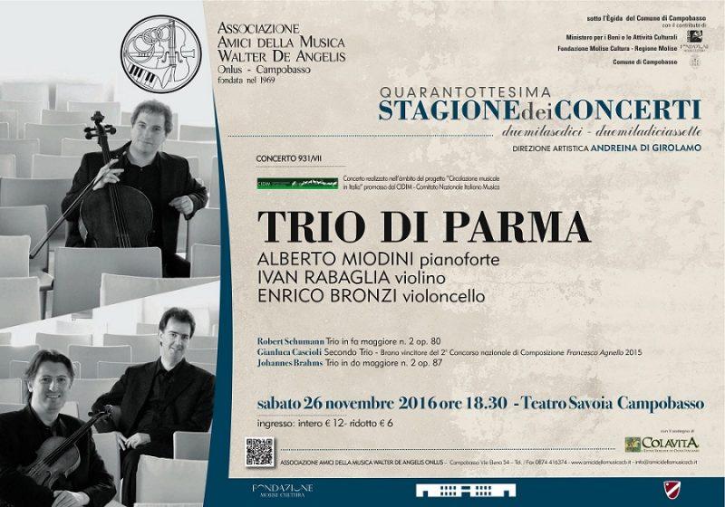 Il Trio di Parma al Teatro Savoia