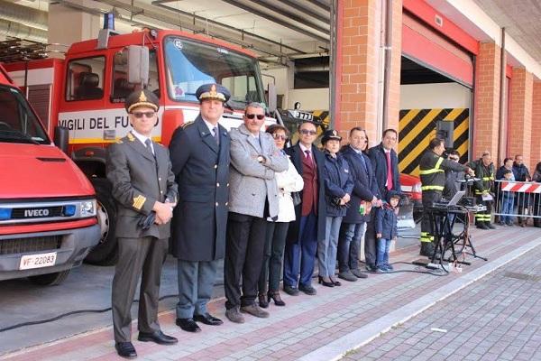 Manifestazione dei Vigili del fuoco di Isernia in onore di Santa Barbara
