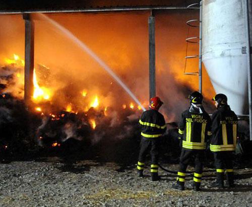 Campolieto: azienda agricola in fiamme