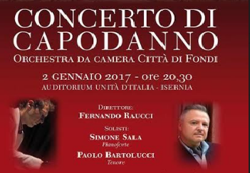 EVENTI- Concerto di Capodanno a Isernia: la musica al centro delle attività culturali
