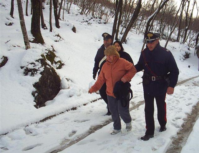 Emergenza neve, Carabinieri all'opera in tutta la provincia
