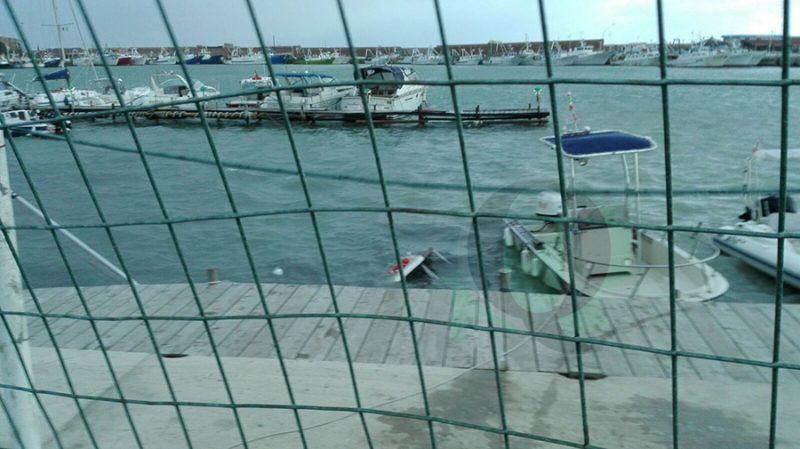 Termoli, imbarcazioni da diporto affondate dal mare grosso