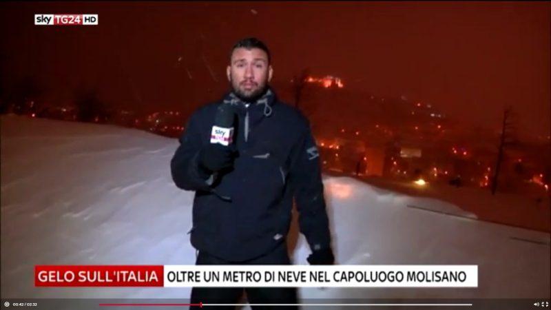 Neve. Campobasso in diretta su SkyTg24