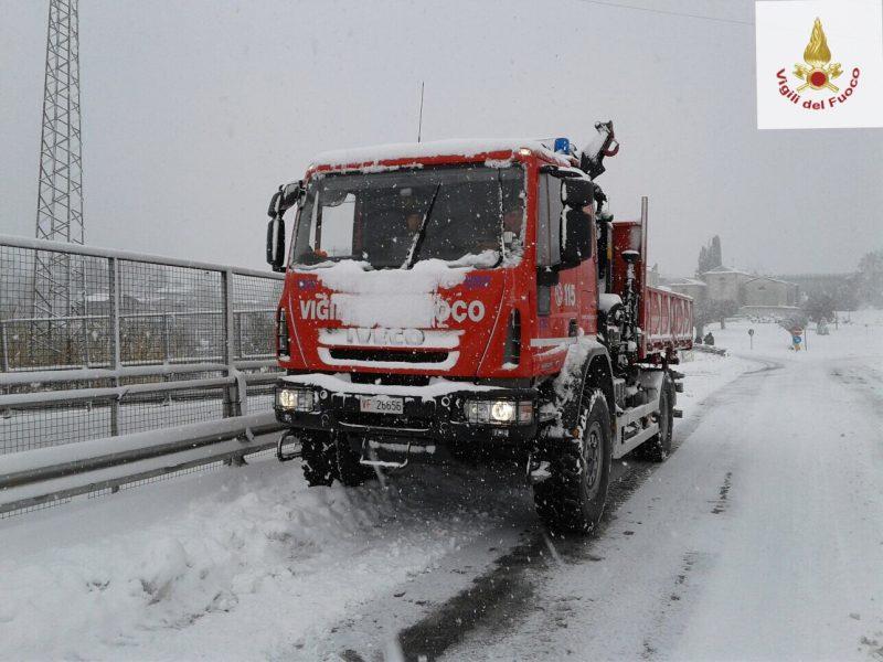Disagi per il maltempo, 50 gli interventi dei Vigili del Fuoco di Isernia sulla viabilità provinciale