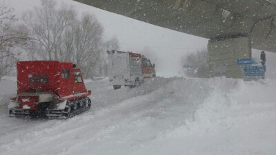 Emergenza neve, primo bilancio degli interventi dei Vigili del Fuoco
