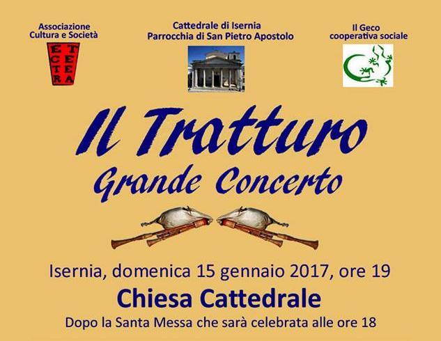 """EVENTI- """"Il Tratturo"""" in concerto ad Isernia il 15 gennaio"""