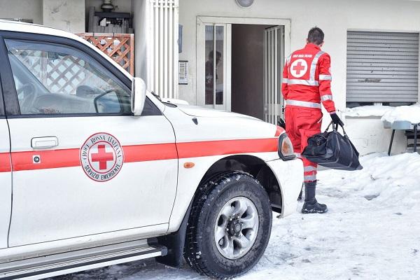 Molise solidale, la Croce Rossa al fianco degli abruzzesi