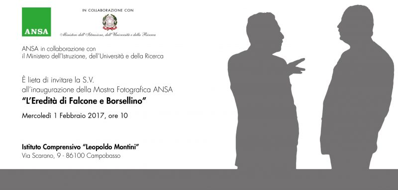 'L'Eredità di Falcone e Borsellino', arriva a Campobasso la mostra promossa da Ansa e Miur