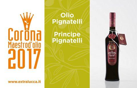 "Al ""Principe Pignatelli"" la Corona Maestro d'Olio 2017"
