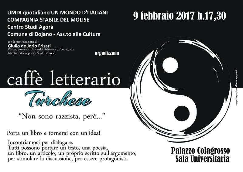 """""""Non sono razzista, però…"""": torna il caffè letterario a Bojano"""