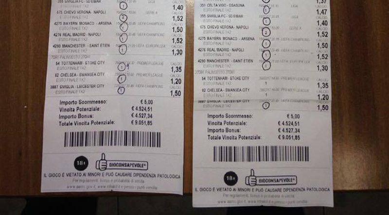 Intralot di Campobasso, vinti oltre 18mila euro con due schedine